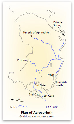 plan of Acrocorinth