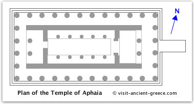 schematic plan of temple