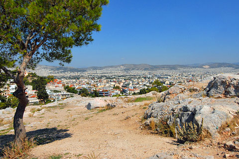 View of Athens from the Areopagus