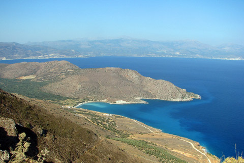 north coast harbours exposed to volcanic destruction of Minoans