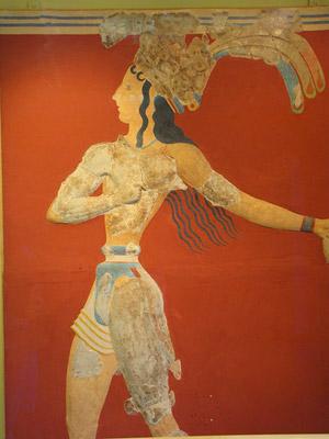Minoan fresco