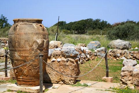 Large pithos at Malia Crete