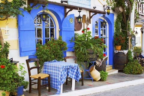 quaint taverna in Malia town
