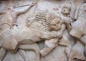Siphnian Treasury frieze detail