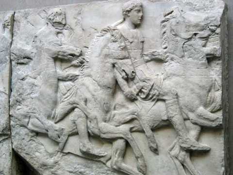 One of the blocks of the Parthenon frieze