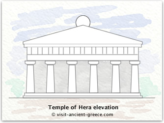 sketch of Temple of Hera when complete