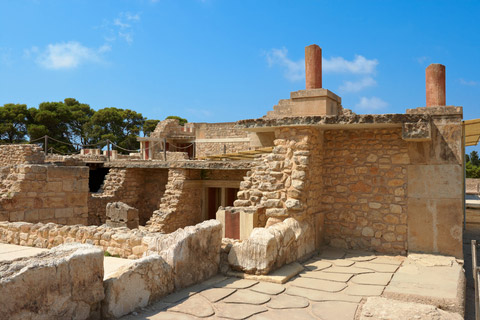small section of reconstructed Knossos