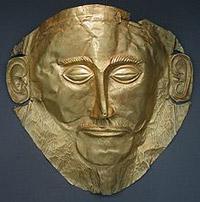 famous Mycenae death mask