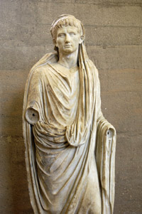 Roman statue from the museum