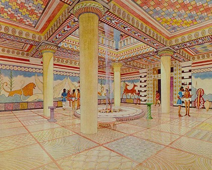 imagined room in Palace of Nestor