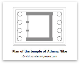 schematic plan of temple of Athene Nike