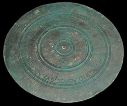 Ancient Greek discus with inscriptions