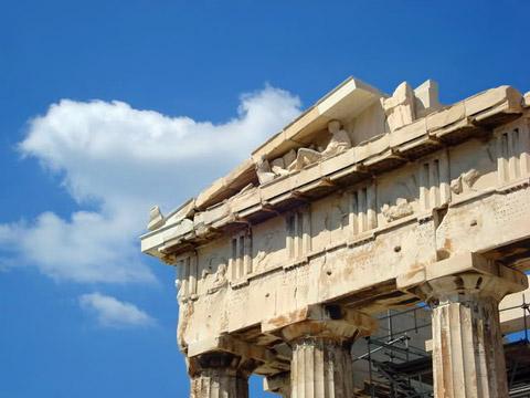 Detail of the Parthenon entablature