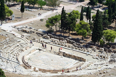 Theatre of Dionysus from the Acropolis