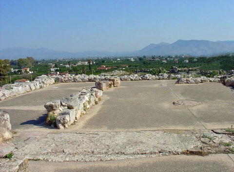 The Megaron at Tiryns--now flat ruins
