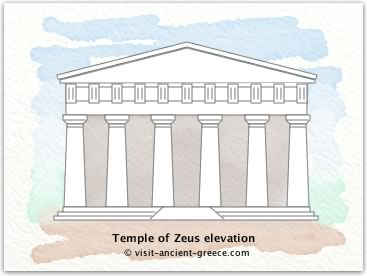 sketch of Temple of Zeus at completion