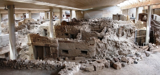 Akrotiri excavation under roof