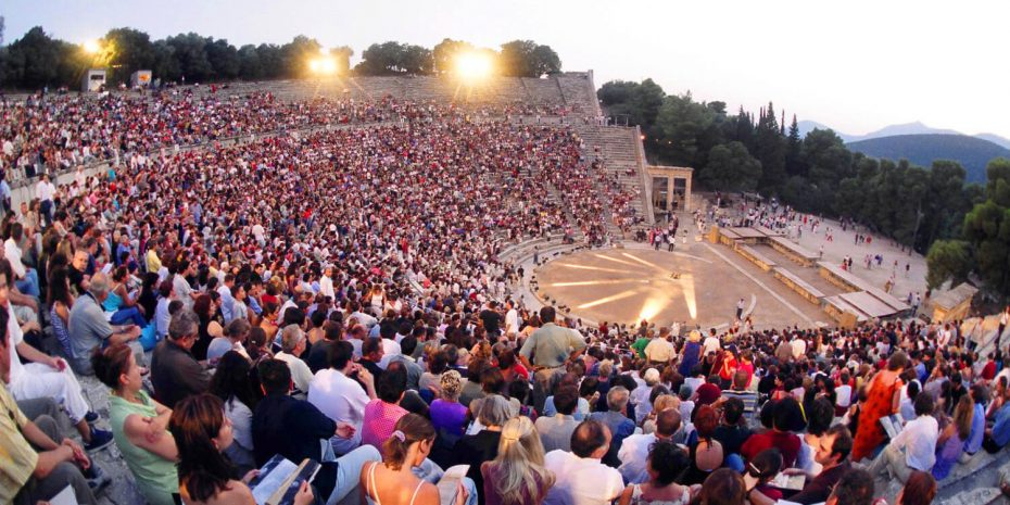 full theatre at festival