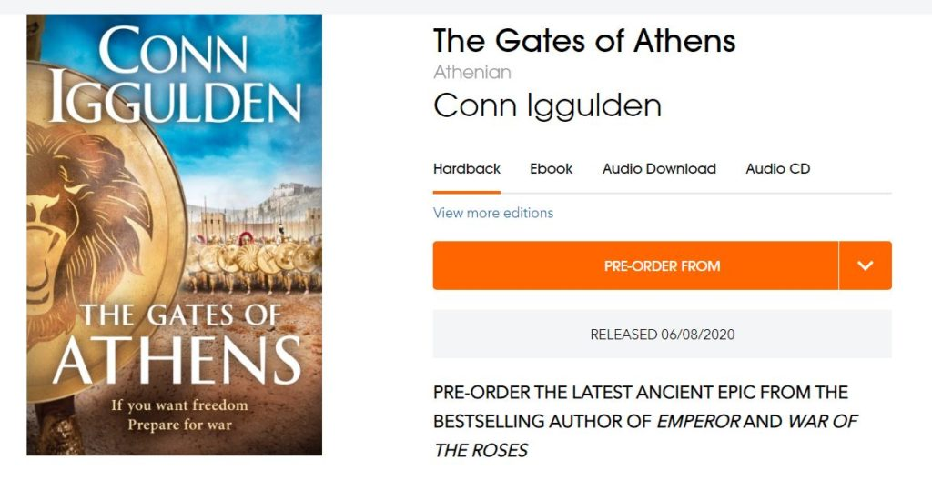 Pre-order ad for The Gates of Athens
