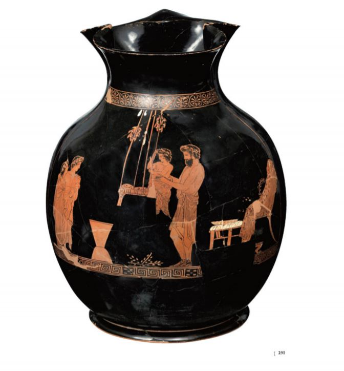 pitcher from Latsis museum eBook: ancient Greek family scene