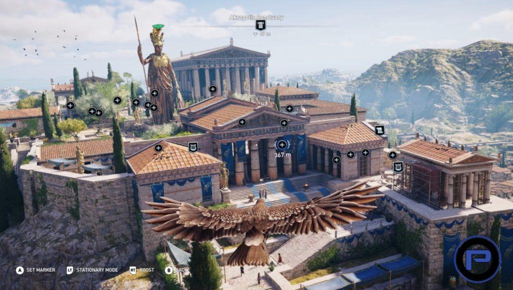 fictional Athens acropolis