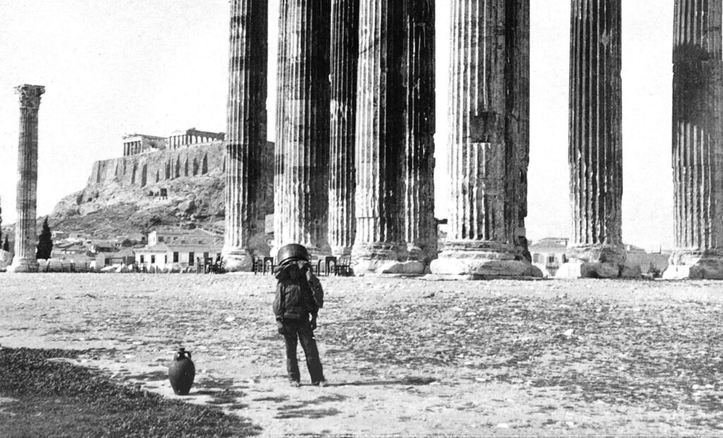 columns of temple of Olympian Zeus, photo before 1900