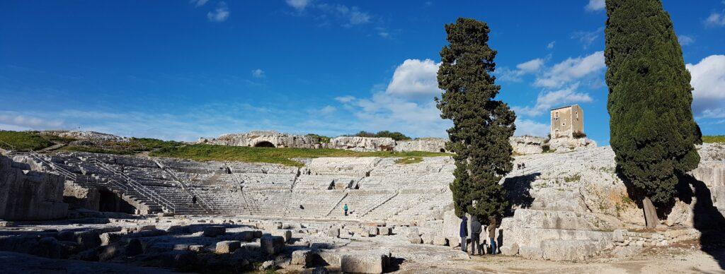 panorama of ancient theatre Syracuse
