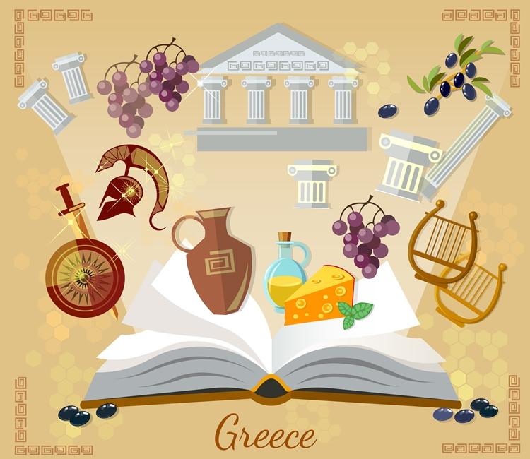 vestor for ancient Greece books